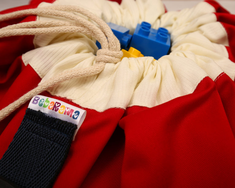 Crvena Bebarama vreća za Lego kocke i igračke