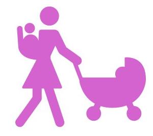 Mama u pokretu - simbol za marame za dojenje